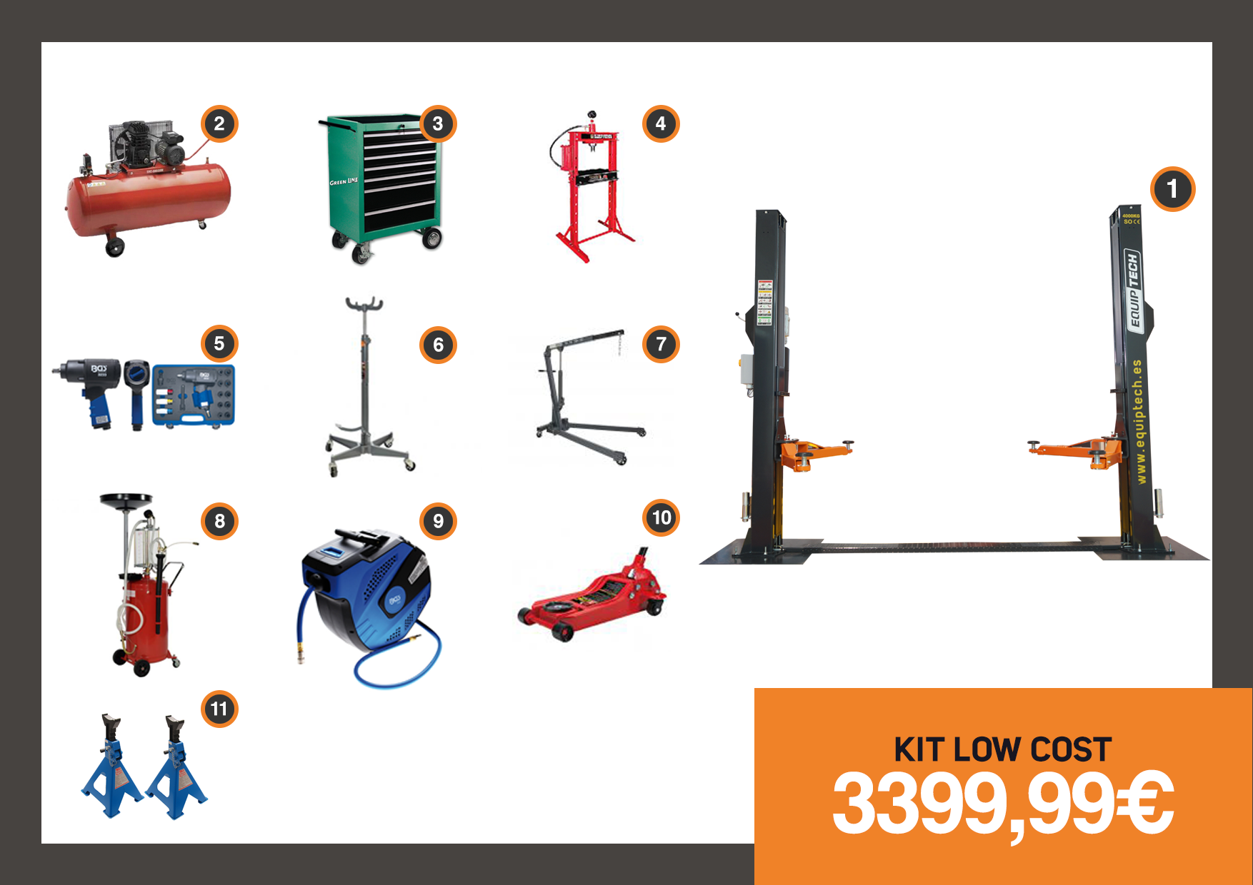 KIT LOW COST EQUIPTECH